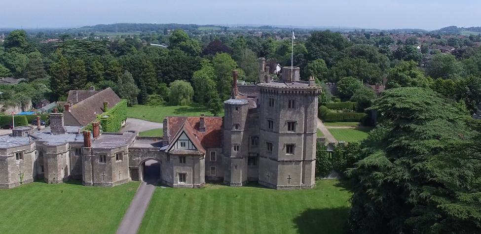 Drone view of Thornbury Castle
