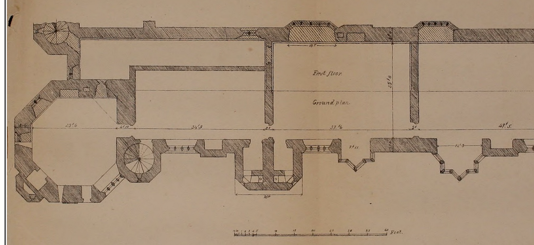 Using Historic drawings to initiate sensory (re)construction of sites.
