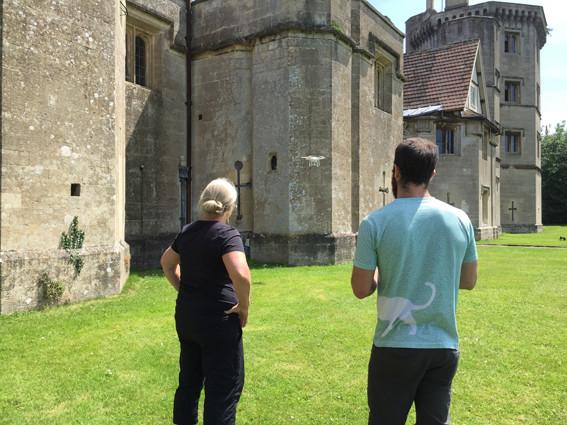 Drone at Thornbury Castle