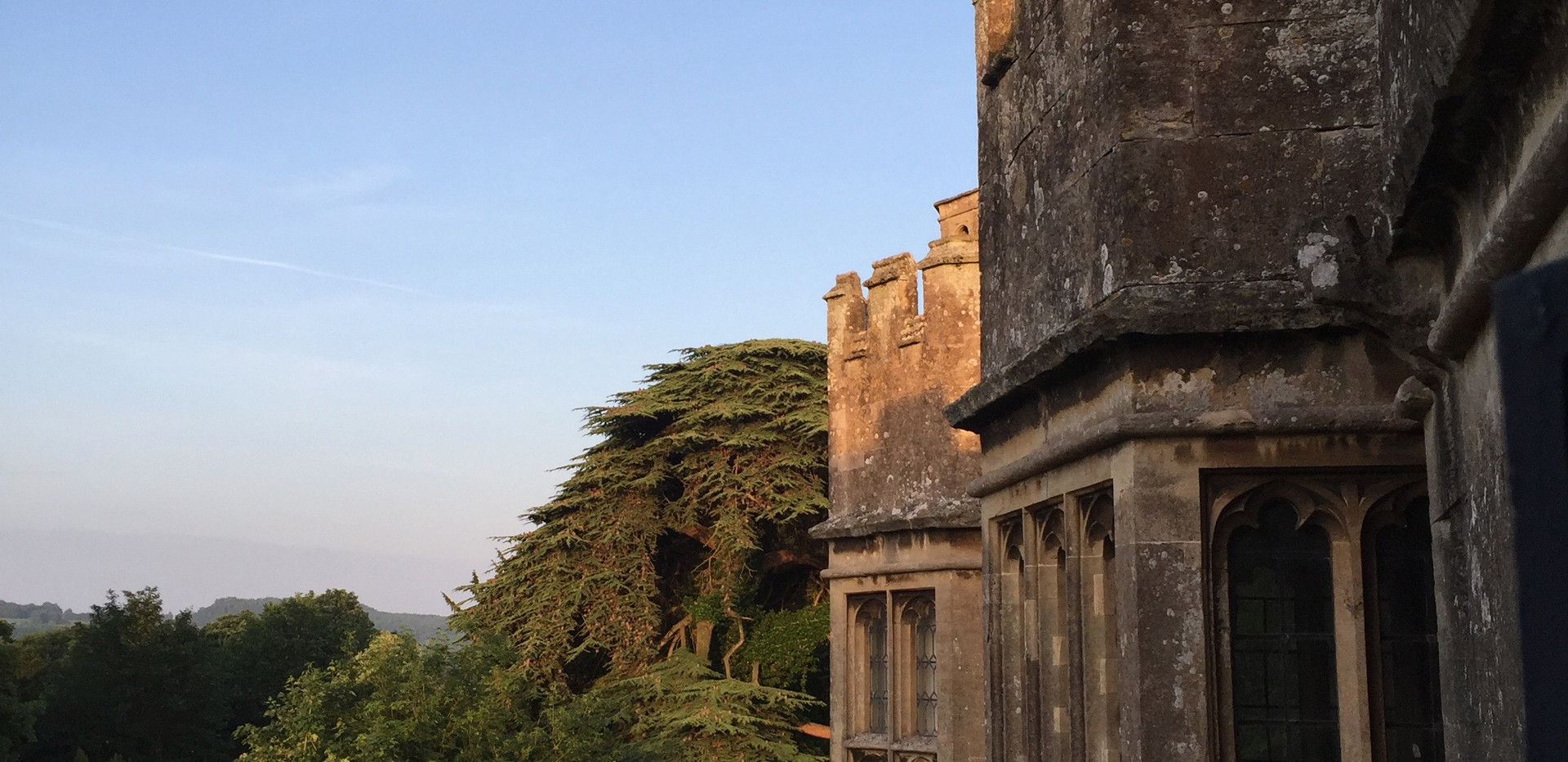 Dawn light at Thornbury Castle