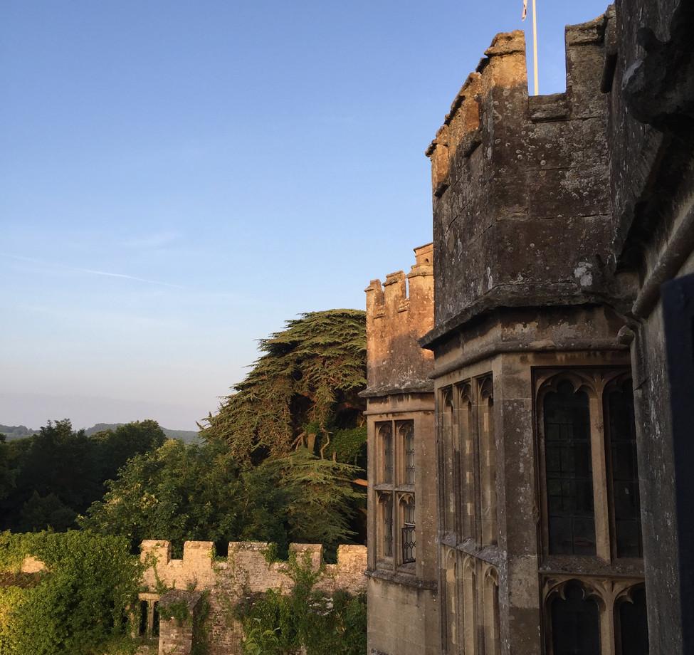 Dawn light at Thornbury Castle