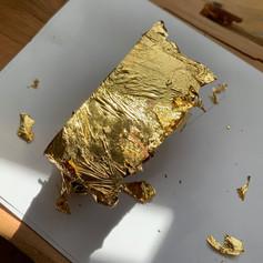 Sheryl Boyle exploring historic goldleaf