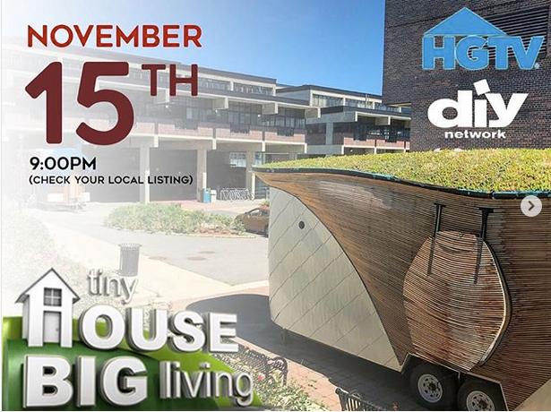 Ben Hayward Tiny House featured on HGTV Nov.15th !