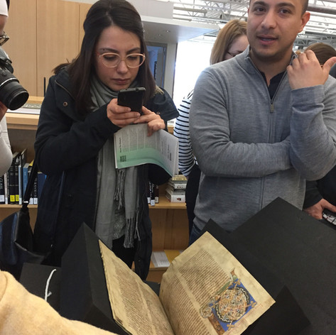 Rakow Library Rare Manuscripts Field Trip