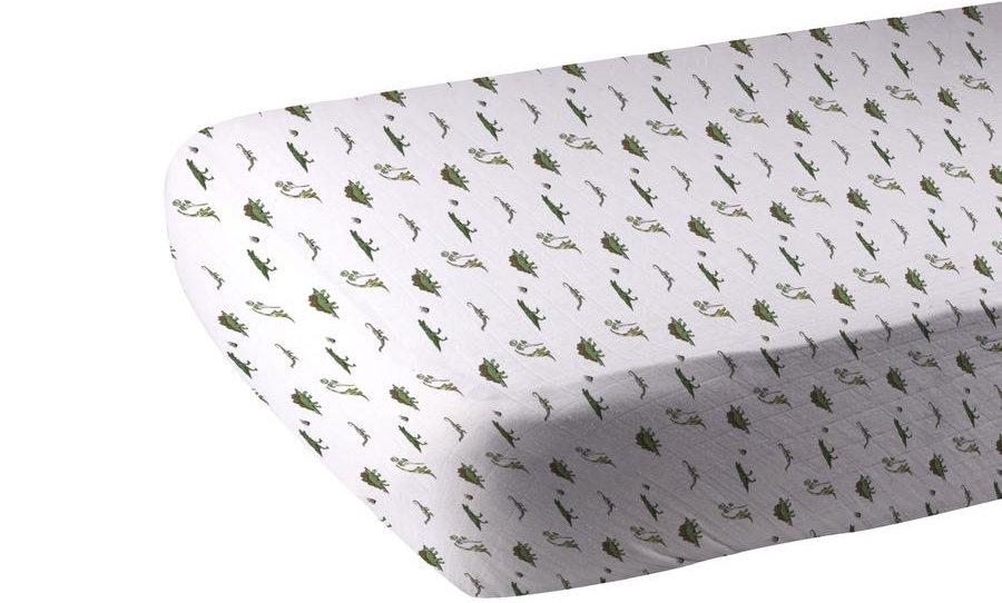 Dino Days Cotton Muslin Crib Sheet