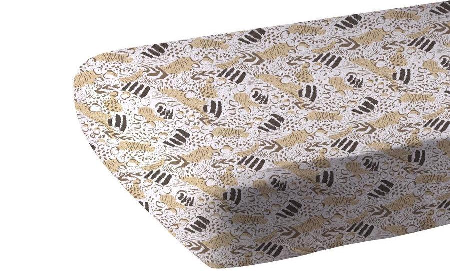 Animal Print Bamboo Muslin Crib Sheet