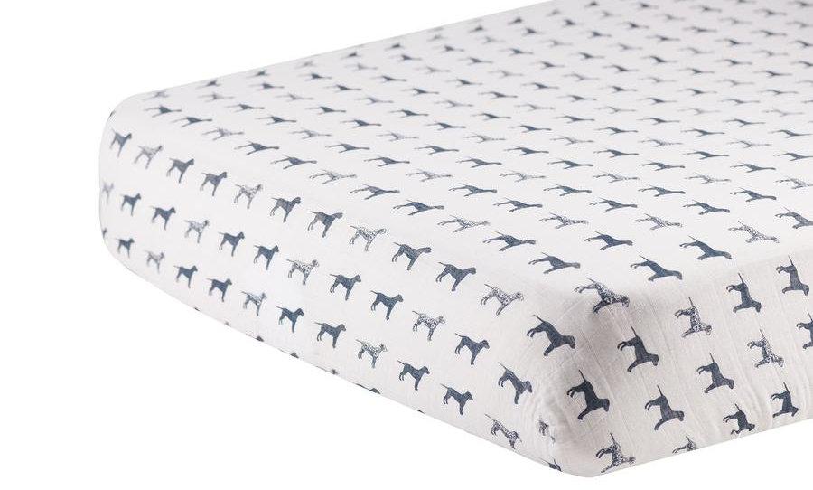 Dalmatian Cotton Muslin Crib Sheet