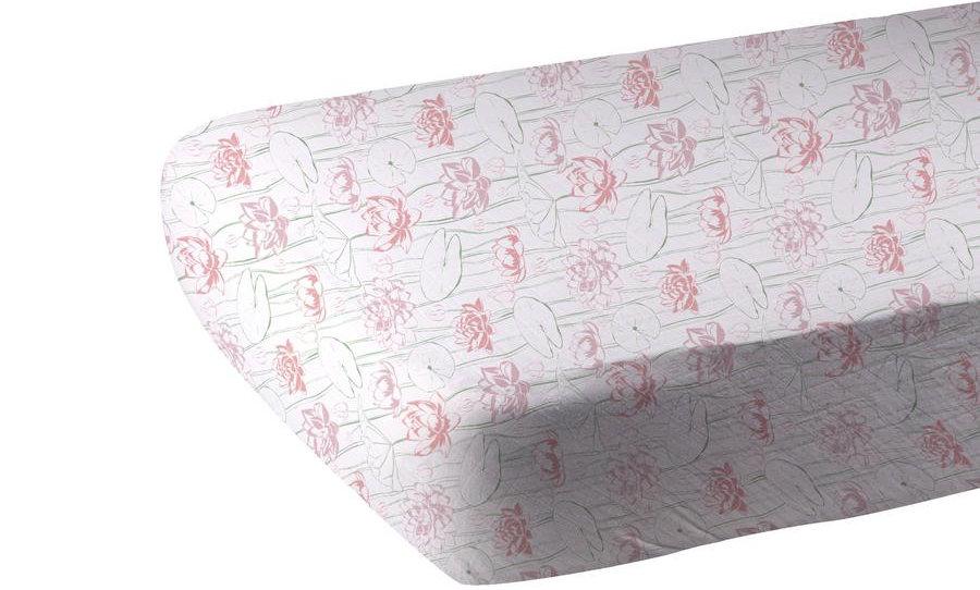 Water Lily Bamboo Muslin Crib Sheet