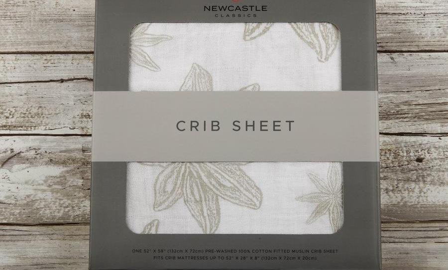 Star Anise Cotton Muslin Crib Sheet