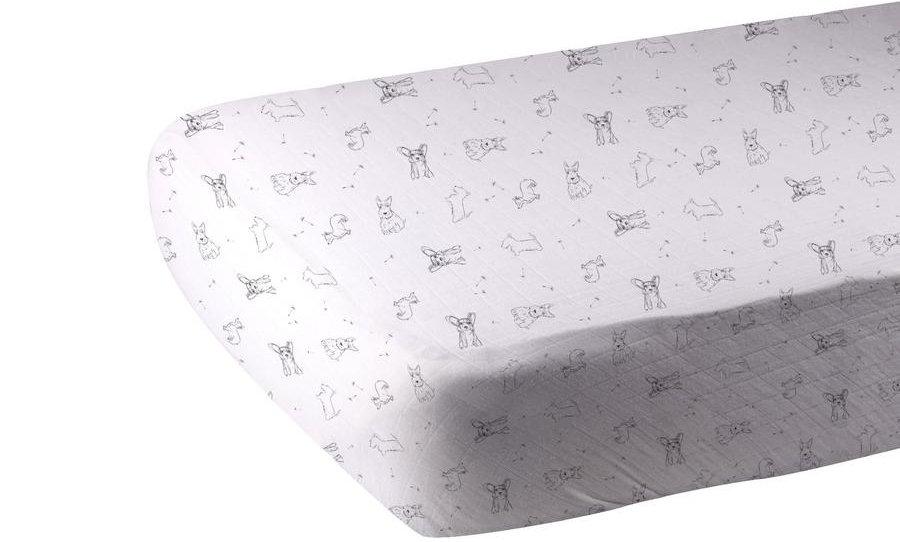 Corgi Bamboo Muslin Crib Sheet