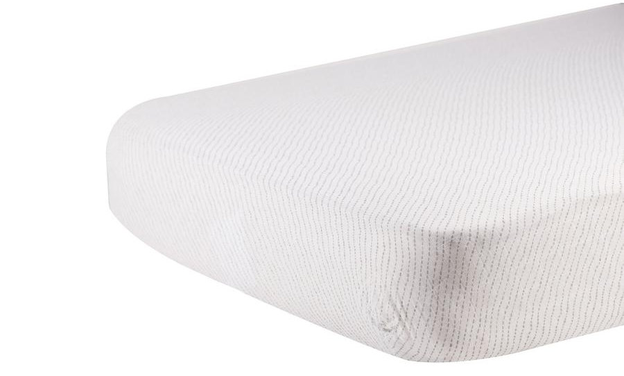 Spotted Wave Cotton Muslin Crib Sheet
