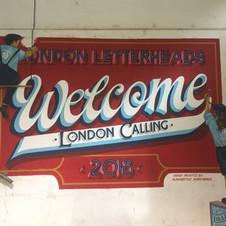 London Letterheads Mural