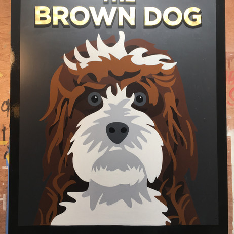 Brown Dog Pub Swing sign
