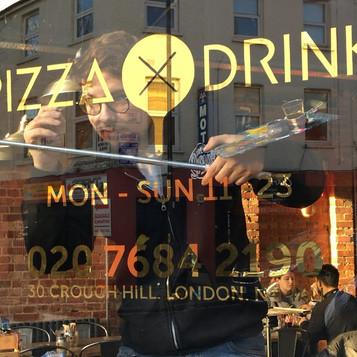Pixxa x drink gilded window