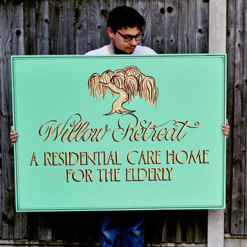 Bespoke sign for Care home