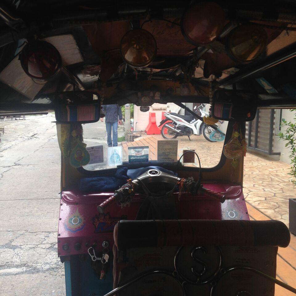 Inside the tuk tuk