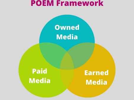 Digital Marketing  - POEM Framework. An Integrating of Paid, Owned & Earned Media.