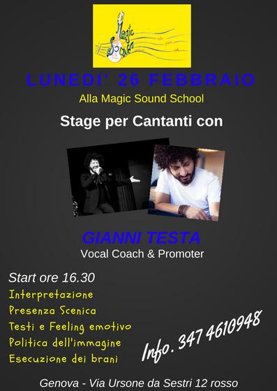 Stage Gianni Testa