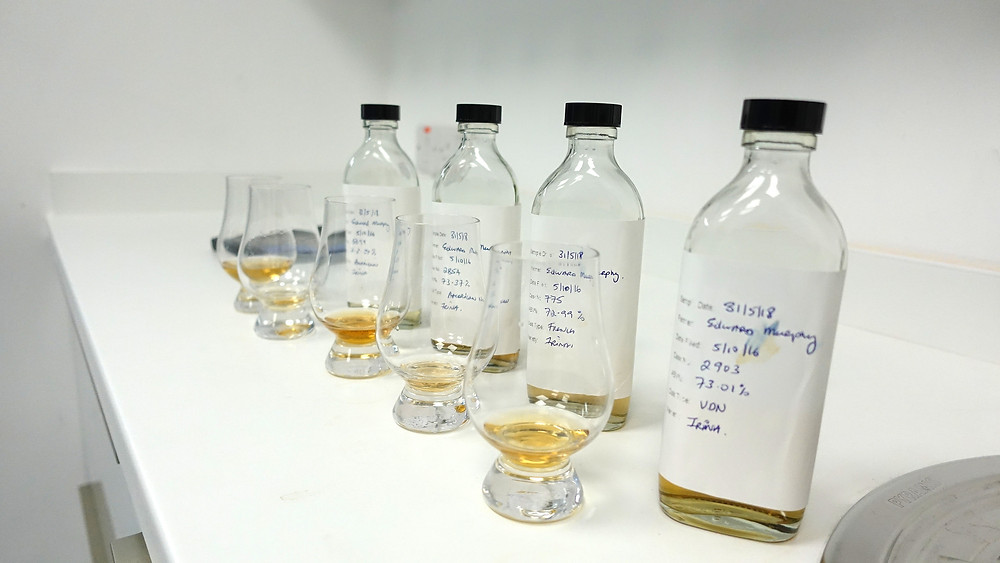 Aging whiskey from Waterford Distillery being aged in different types of casks. Uday Balaji, The Whisky Advisor