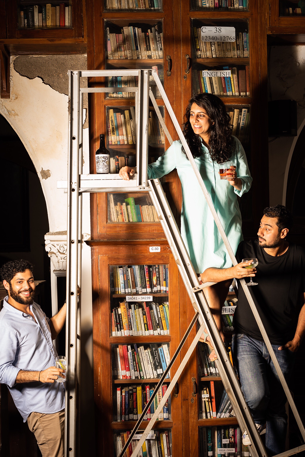 Founders of Stranger & Sons Gin - Vidur Gupta, Sakshi Saigal and Rahul Mehra