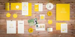 Junge Hochzeitseinladung Gelb