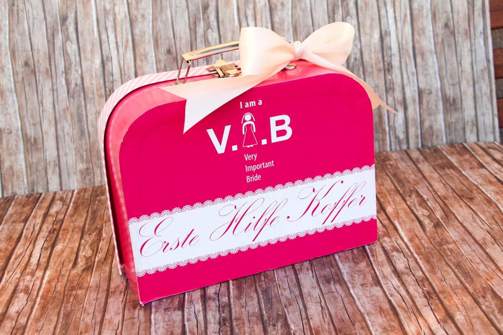 Erste-Hilfe-Koffer für die Braut
