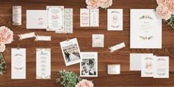 Blumen Hochzeitseinladung rosa