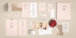 Shabby Chic Hochzeitseinladung rosa