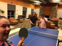 Jessica, Ravi, and Zach (Pleiss lab) found a pingpong table at RNA 2018!