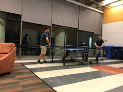 Ravi and Zach (Pleiss lab) playing pingpong at the RNA meeting in Berkeley, CA.