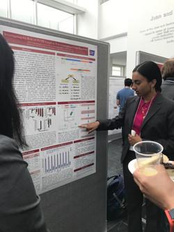 Akila presenting her undergraduate research.