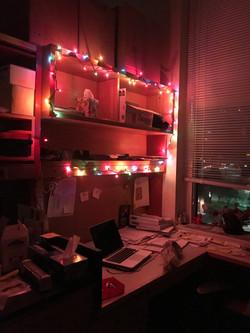 Jessica's festive desk.