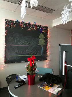 We gave Andrew's office a surprise holiday makeover!