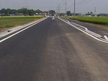 一般県道小山都賀線  道路改良工事(2010)