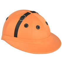 Edition polo helmet, orange cotton