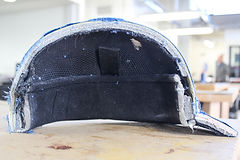 Polo helmet disected by Robin Spicer