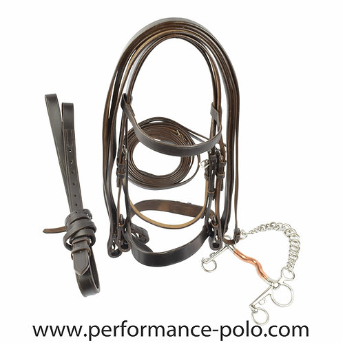 Complete Ainsley polo bridle with pelham bit