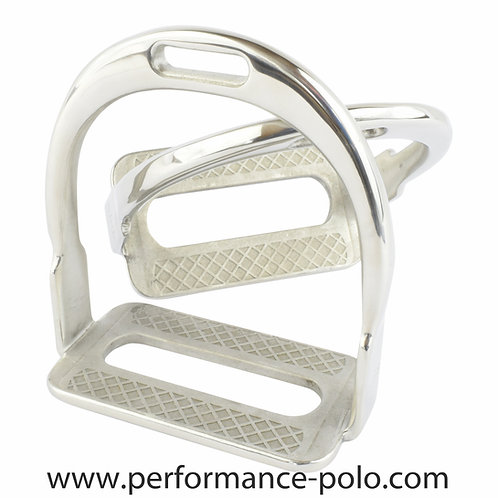 Ainsley stainless steel polo stirrups