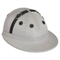 Edition polo helmet, grey cotton