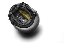 Edition polo helmet, dark grey leather