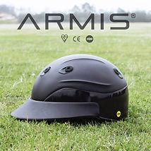 Edition polo helmet, blue leather