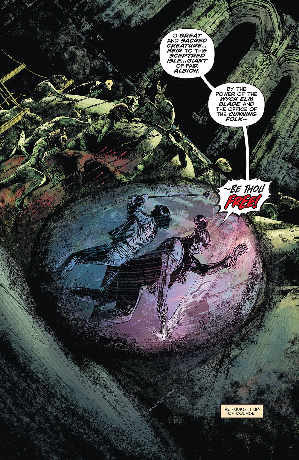 John Constantine:Hellblazer, issue #12, page 1, DC Comics, Aaron Campbell, Jordie Bellaire, Aditya Bidikar