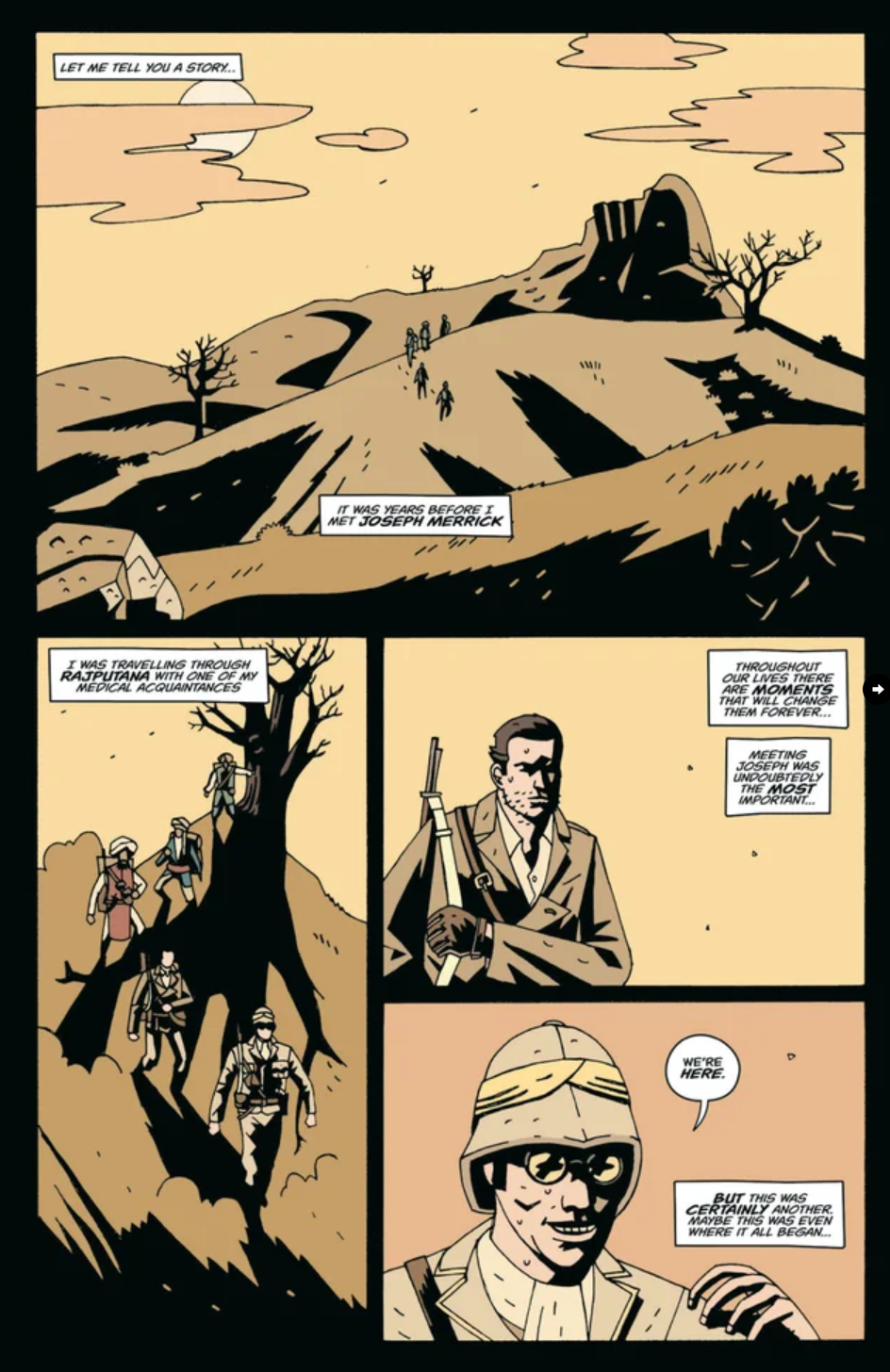 Treves: A Restless Night, issue #1, Page 1, self-published, Luke Parker