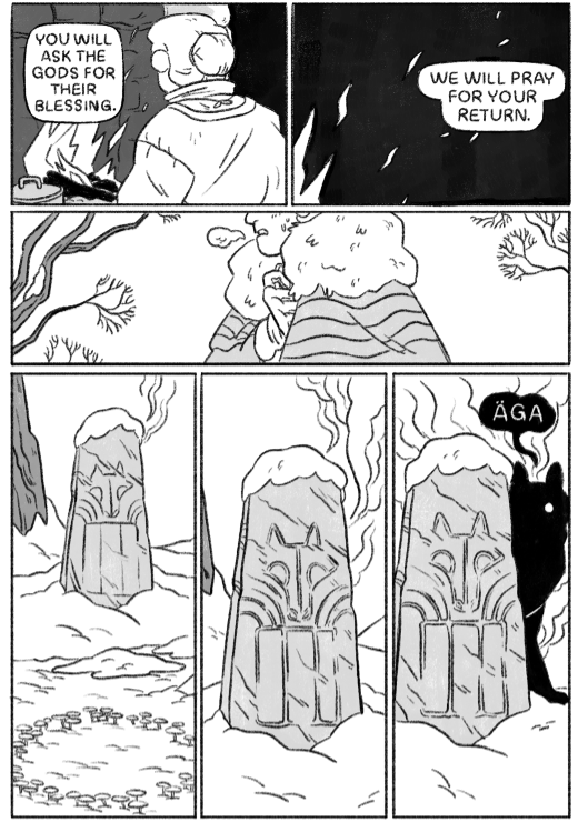 Äga And The Wyrm, page 6, self-published, Annemarie Rogers