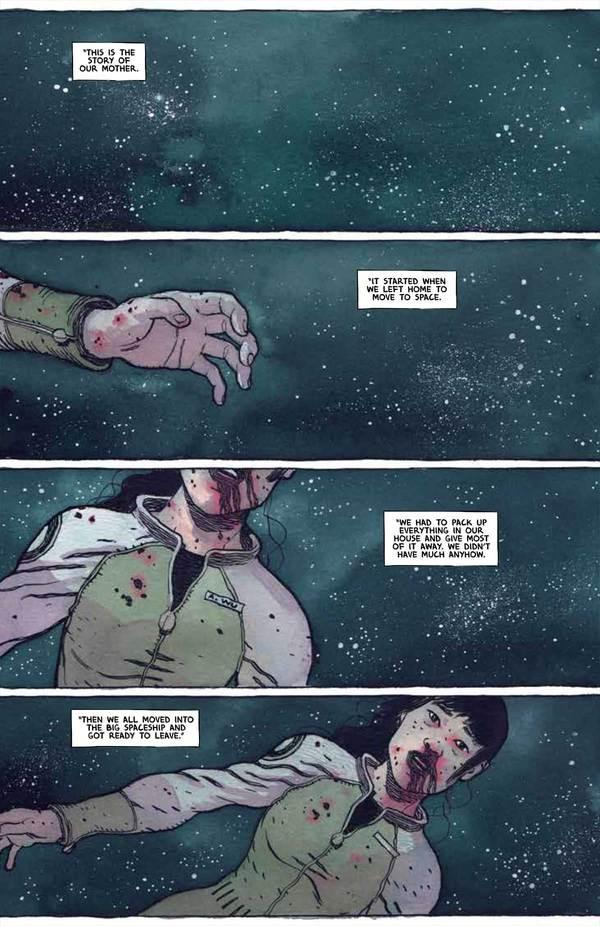 Sentient, issue #1, page 1, TKO Studios, Gabriel Walta