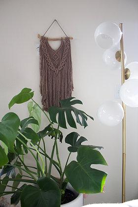 Taupe macrame wall hanging