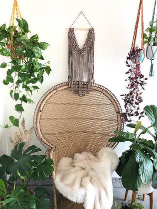 Taupe macrame wall decor