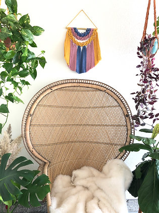 Upside down Rainbow macrame