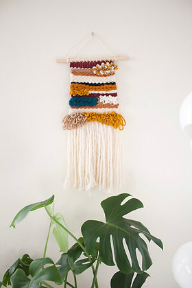 loops weaving wall hanging