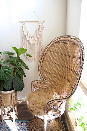Natural tassel macrame wall hanging